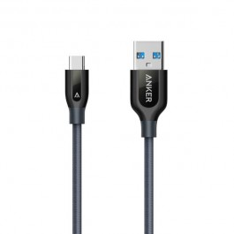 PowerLine+ USB C to USB 3.0 Double-Braided Nylon Cable (0.9m)